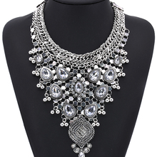 Новинка, античный кристалл, драгоценный камень, роскошные свадебные Стразы, винтажное Макси массивное ожерелье, воротник, Женские аксессуары, бижутерия