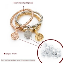 Fashion Charm Unisex Bracelets with Rhinestones (3 pcs)