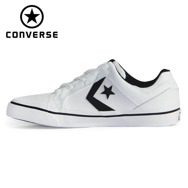 Original Converse contre série de chaussures nouveau cuir unisexe baskets chaussures de skate 158427C