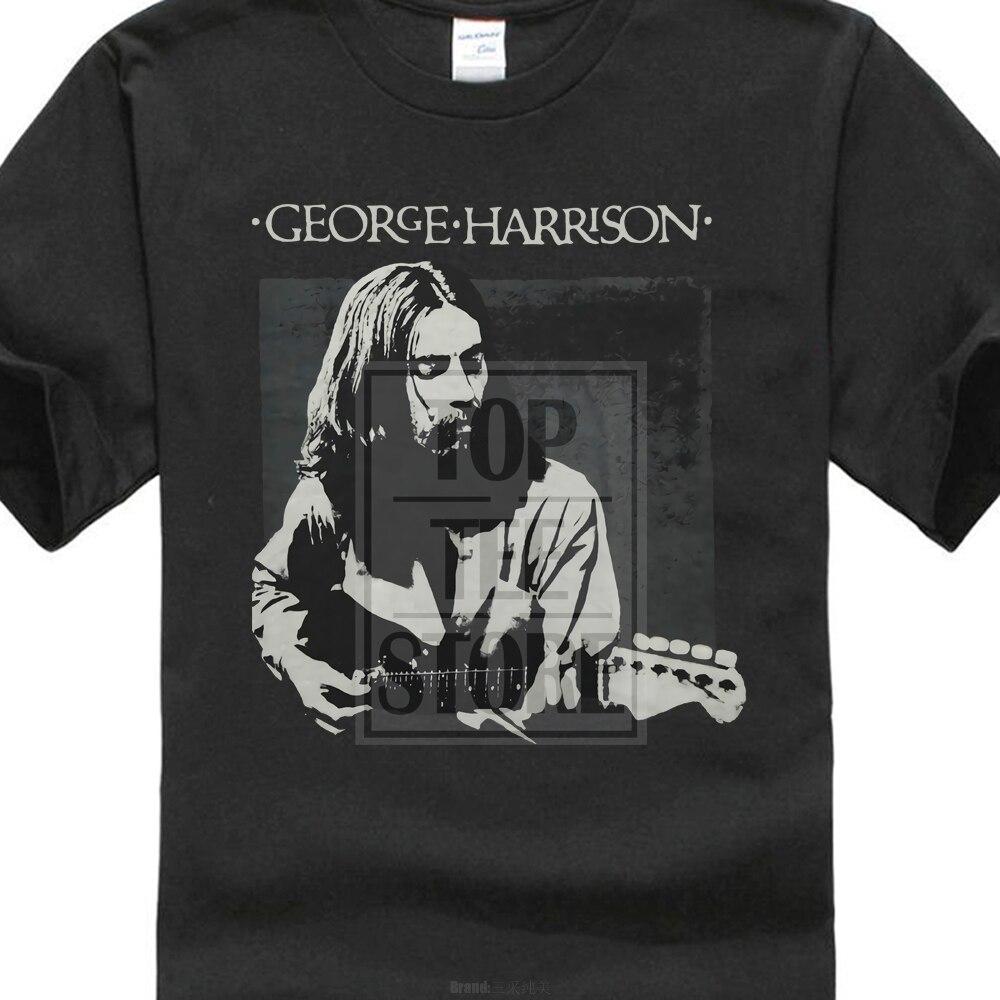 George Harrison Men'S George Harrison Live Portrait   T     Shirt   Black