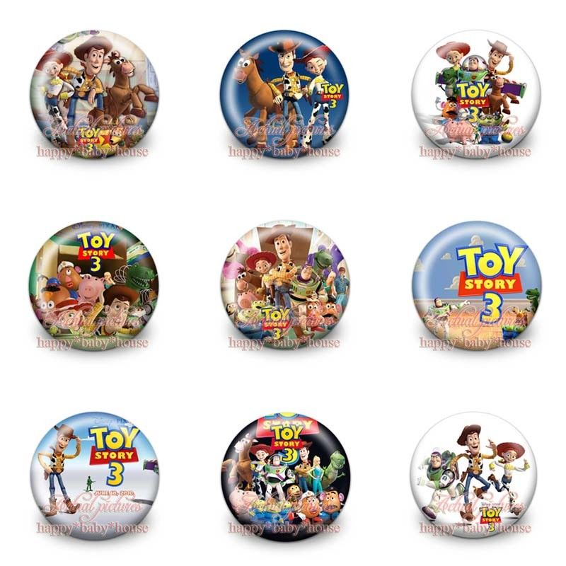 Mixed 90pcs Toy Story,boys Accessoreis Buttons Pins Badges Novelty Round Badges,30mm Diameter,accessories For Clothing/bags,gift Mild And Mellow Luggage & Bags