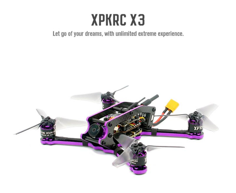 XPKRC X3 135mm F4 20A BL_S FPV Racing Drone w/ Runcam Micro Sparrow 2 Camera BNF RC Quadcopter Helicopter Racer