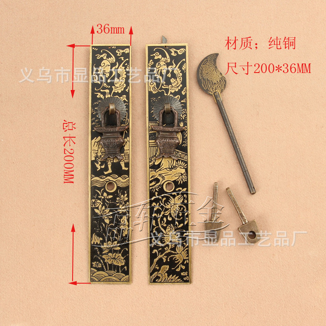 Ming and Qing antique furniture factory direct copper fittings copper straight furniture accessories