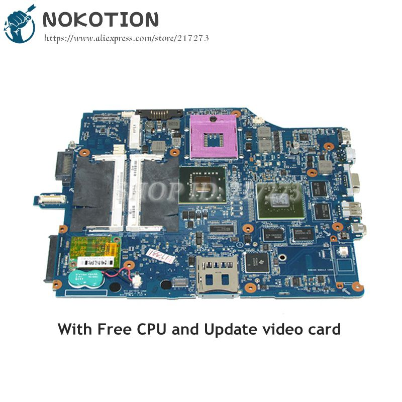 NOKOTION For Sony Vaio VGN-FZ240E VGN-FZ Laptop Motherboard DDR2 Free CPU A1369752B MBX-165 1P-0076500-8010 Main board недорго, оригинальная цена