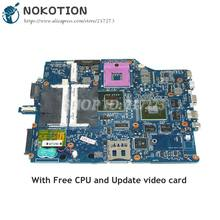 NOKOTION For Sony Vaio VGN-FZ240E VGN-FZ Laptop Motherboard DDR2 Free CPU A1369752B MBX-165 1P-0076500-8010 Main board(China)