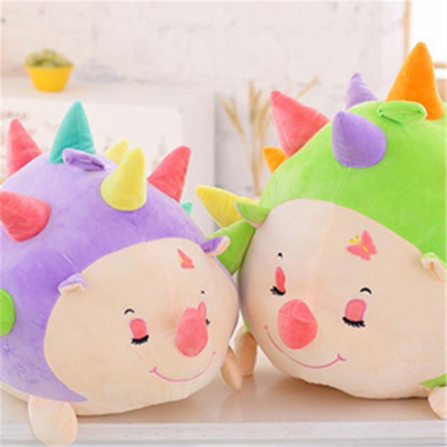 50CM Colorful Hedgehog Cartoon Doll Soft PP Cotton Stuffed  Plush Toy Super Cute Pillows Cute Dolls Kids Birthday Gift 3 Colors
