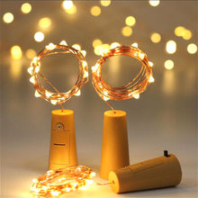 2M 20 Led Glass Wine Bottle Cork Stopper Lights LED Fairy Light String Cork Stopper Garland Light Christmas Party Decoration(China)