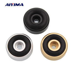 AIYIMA 4Pcs Mini Active Speaker Spikes F