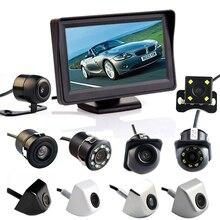 Hippcron 4.3 인치 자동 주차 시스템 HD 자동차 백미러 모니터 170 방수 후면보기 카메라