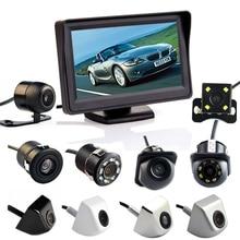Hippcron 4.3 بوصة السيارات نظام صف سيارات HD سيارة مرآة الرؤية الخلفية رصد مع 170 درجة مقاوم للماء للكاميرا الرؤية الخلفية