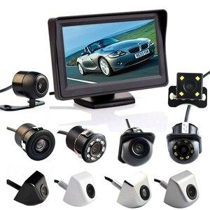 Image 1 - Hippcron 4.3 بوصة السيارات نظام صف سيارات HD سيارة مرآة الرؤية الخلفية رصد مع 170 درجة مقاوم للماء للكاميرا الرؤية الخلفية