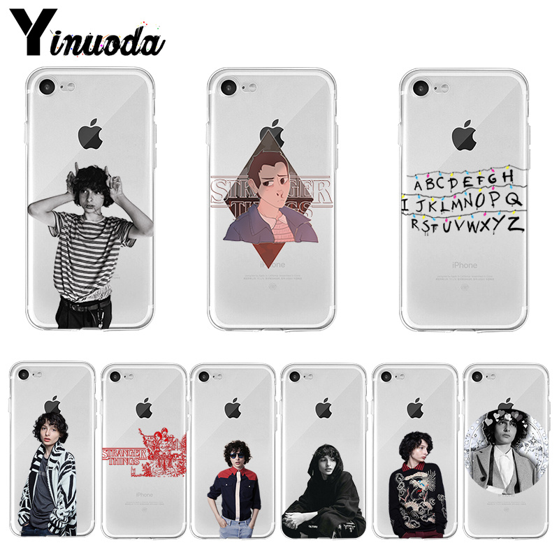 Yinuoda TV Finn Wolfhard <font><b>Stranger</b></font> <font><b>Things</b></font> Luxury High-end <font><b>phone</b></font> <font><b>case</b></font> for <font><b>iPhone</b></font> 8 7 6 6S Plus X XS max 10 5 5S SE <font><b>XR</b></font> Coque Shell image