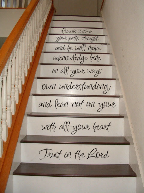 Staircase Decal   Proverbs 35 6 Bible   Religious Inspirational STAIR CASE  Art Wall Decals