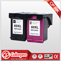 CP 60 сменный чернильный картридж для HP Deskjet D1660 D2500 D2645 D5560 F2400 F4200 F4400 (1BK/1C)