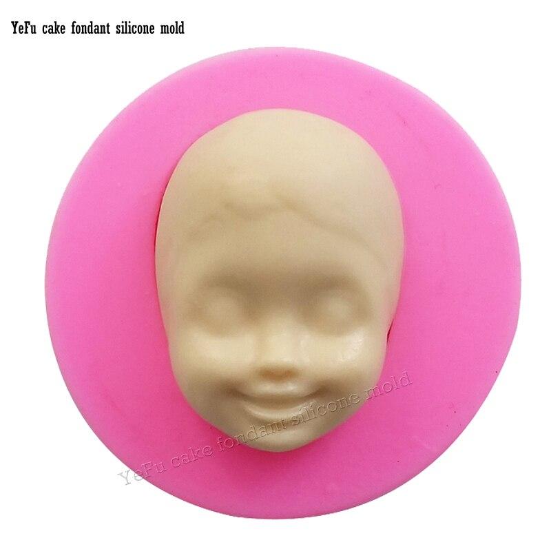 d beb cara de cocina de silicona jalea del caramelo del molde de la torta