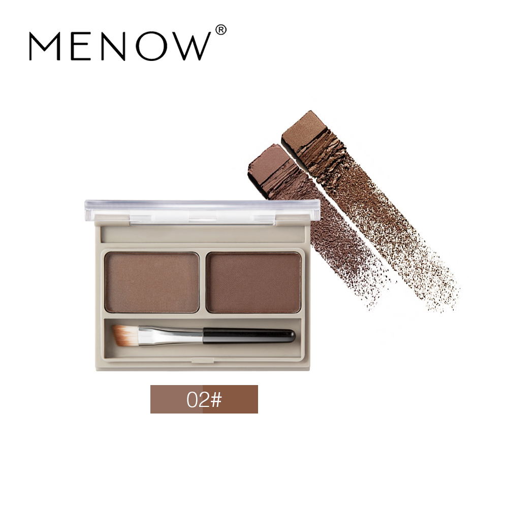 Double Color Eyebrow Powder Waterproof Anti-Sweat Professional Makeup With Eyebrow pencil Dark Brown Make Up Palette Set Kit