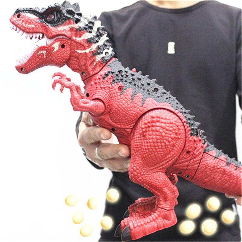 Simulated Flame Spray Tyrannosaurus T-Rex Dinosaur Toy Kids Walking Dinosaur Water Spray Red Light & Realistic Sounds 95AE