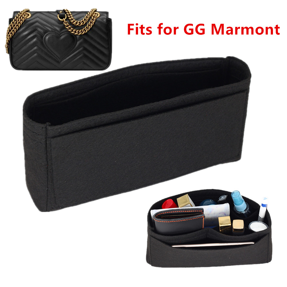 Fits For Double G Marmont Insert Bags Organizer Makeup GG Handbag Travel Inner Purse Portable Cosmetic Base Shaper