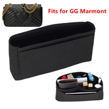 Fits For double G marmont Insert Bags Organizer Makeup GG Handbag Travel Inner Purse Portable Cosmetic base shaper цена