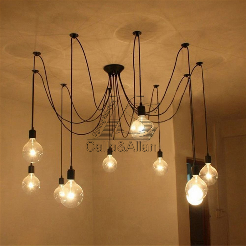 10 Arms E27 Diy Ceiling Spider Pendant Lamp Shade Light Antique Fairy Tering Flowers Chandelier Dining Hall Bedroom Fixture In Lights From