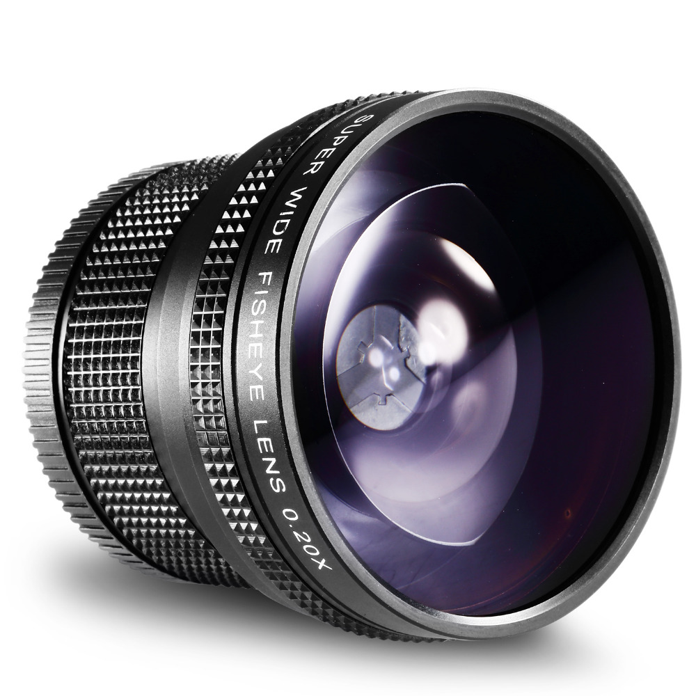 Neewer 52 MM 0.20X Haute Définition Ultra Large AF Objectif Fisheye pour Nikon D5300 D5200 D5100 D5000 D3300 D3100 D3000 D7100 D7000 D90