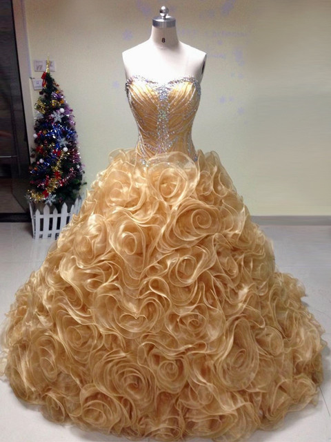2015 Lace Organza Sweetheart Beading Ruffled Quinceanera dress for 15 years masquerade dresses vestido debutante Custom Made