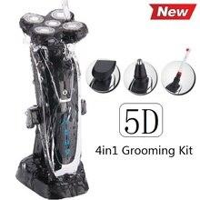 100-240 v 5D Original Razor máquina de Afeitar Eléctrica Para Los Hombres Máquina de Afeitar Recargable hombres con barba y nariz trimmer + cepillo de dientes * 4