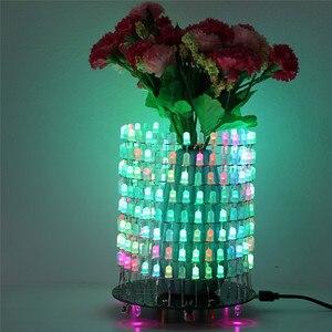 Image 3 - Светодиодный RGB светильник Dream Circle, DIY Kit, модуль музыкального спектра 8х32, электронный Точечный светильник, забавный светодиодный светильник, электронная матрица DIY