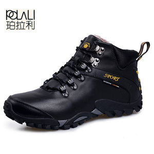 POLALI Men Boots Waterproof Men Footwear Boots 2019 Winter Snow Boots Fur Breathable Fashion Men Winter Shoes zapatos hombre