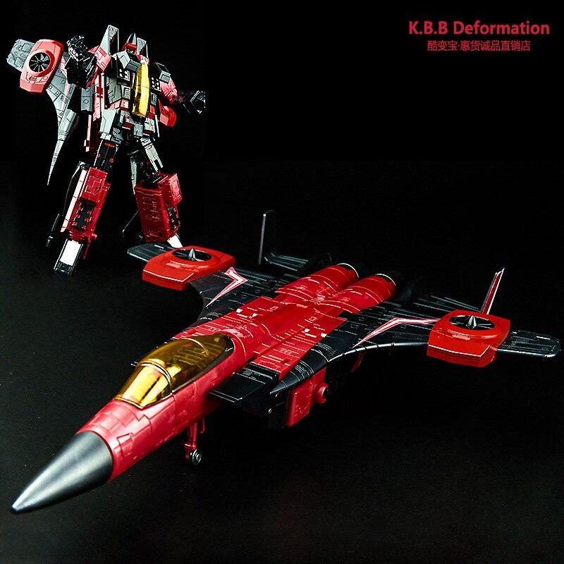 цена на KBB33019 Transformation KBB Commander Alloy Starscream MP11 Fighter Metal Models Deformation Action Figure Oversize Robot Toys