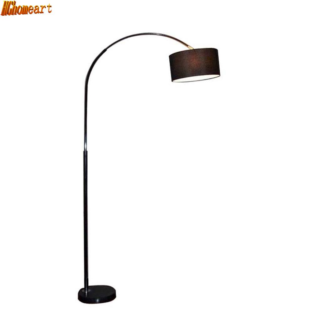 Moderne lampadaire de pêche 110 v 220 v lampes de plancher moderne pour salon interrupteur