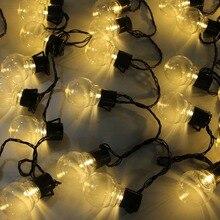 10 متر 38 لمبة led كروية سلسلة الجنية ضوء عيد الميلاد G45 5 متر 10 متر حفل زفاف led الجنية سلسلة ضوء اكليل جارلاند في الهواء الطلق