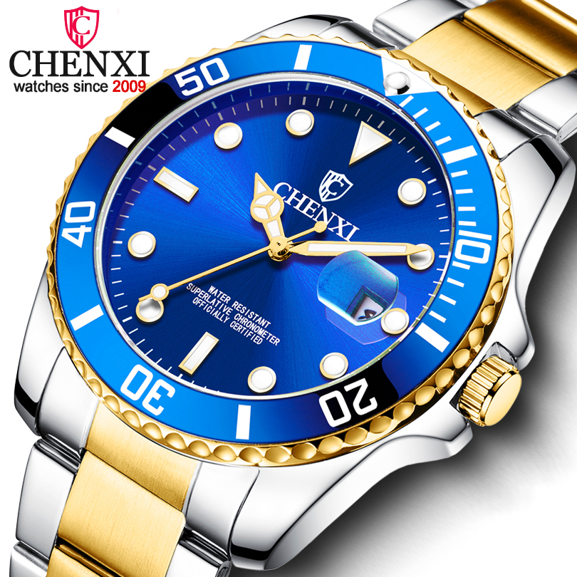 CHENXI 2019 New Top Brand Men Watches Men's Full Steel Waterproof Casual Quartz Date Clock Male Wrist Watch Relogio Masculino
