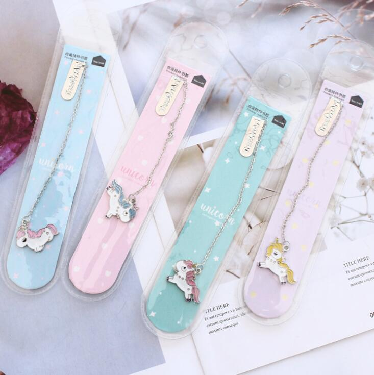 Unicorn Baby Pendant Bookmark Stationery School Office Supply Escolar Papelaria