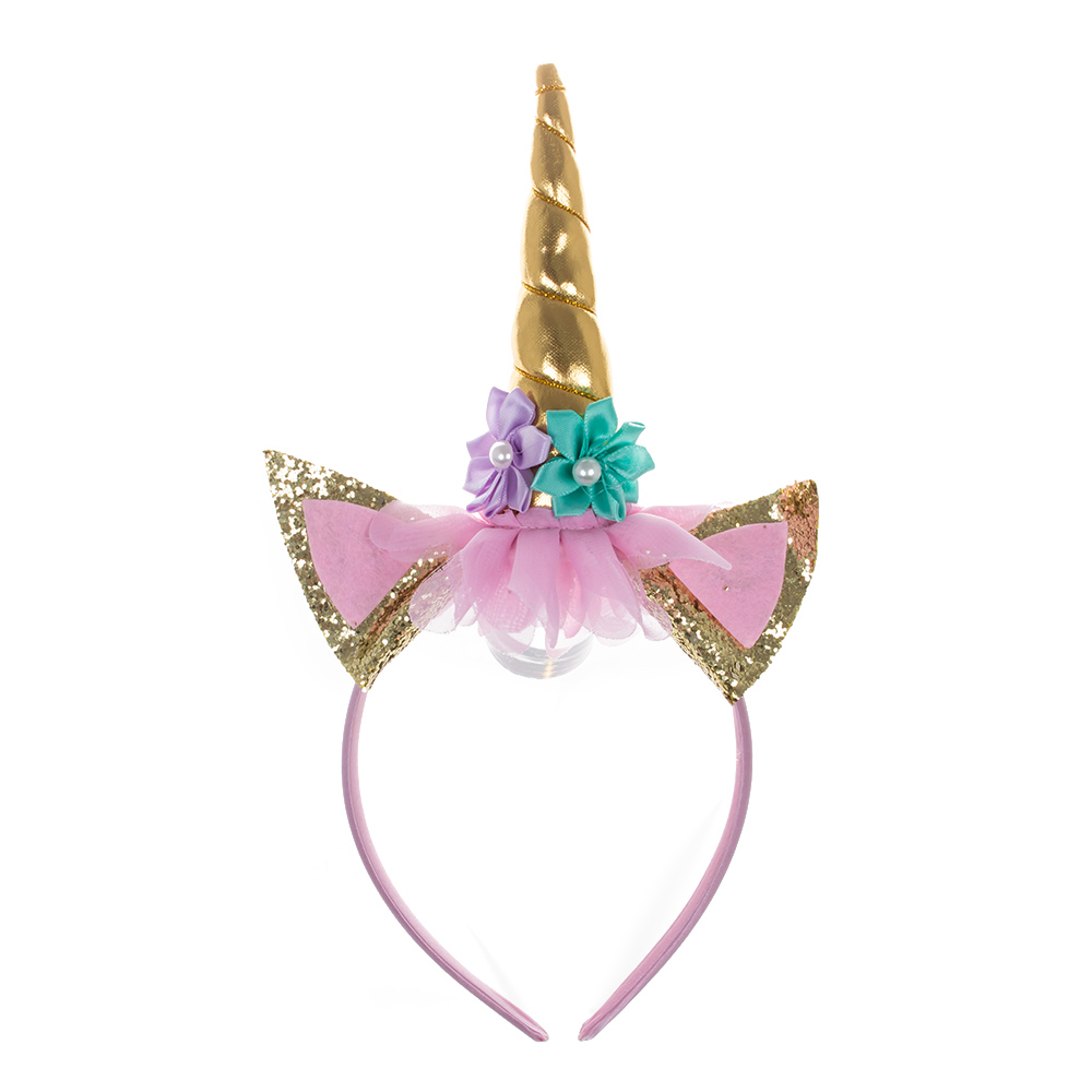 Detail Feedback Questions about Magical Unicorn Horn Head Party Hair ... 030c8762d7ab
