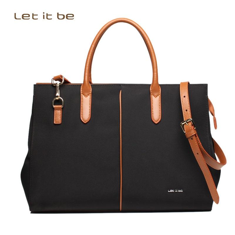 2016 New Let it be brand women crossbody bag big bags business tote bag waterproof oxford