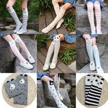 Хлопковые детские носки с кошачьими ушками для девочек; meisje; длинные Детские Носки с рисунком; Chaussette infantil Fille; модные гольфы для малышей