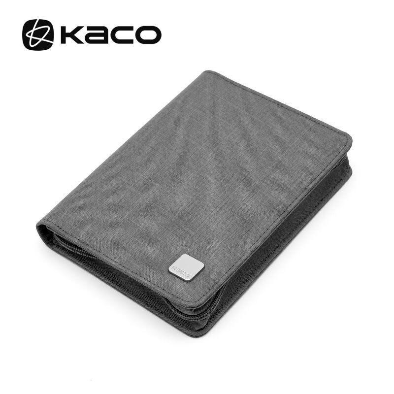 KACO Pen Pouch Pencil Case Bag Gray Available For 10 Fountain Pen / Rollerball Pen Case Holder Storage Organizer Waterproof
