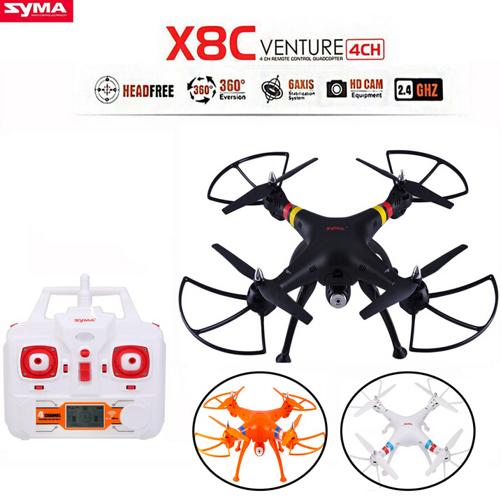 SYMA X8C 2.4G 4CH 6-Axis Gyro RC Quadcopter RTF Drone with 2.0MP HD Camera Headless Mode and 3D Eversion quadrocopter wltoys v393 6 axis gyro brushless headless mode ufo rc quadcopter drone rtf 2 4ghz