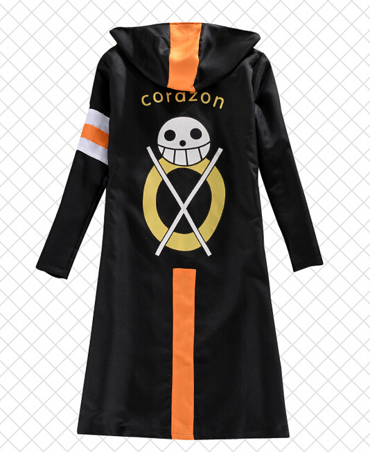 buy one piece trafalgar law 3nd hoodie jacket corazon cosplay costume cloak. Black Bedroom Furniture Sets. Home Design Ideas