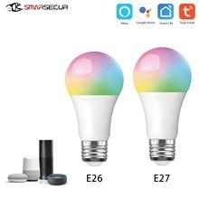 EU/US Standard Tuya/Smart Life 10W 6500K WiFI Bulb Light for Google Home Amazon Alexa Voice Control