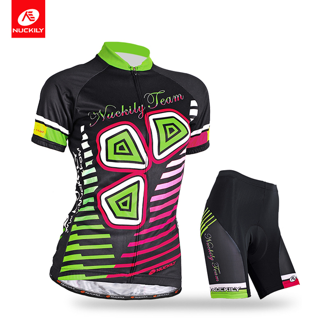 NUCKILY Summer Cycling Suit Women s Custom Sports Wear Mountain Biking  Jersey Set Gel Pad Cycling Shorts GA005GB005 21002a474
