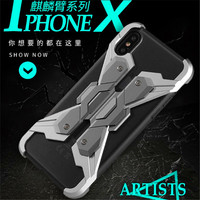 Iphone 5用× 7 8プラスtpu金属2で1耐衝撃ケース用サムスンs8プラス注8 huaweiメイト10 oppo r11s vivo x9s電話ケー