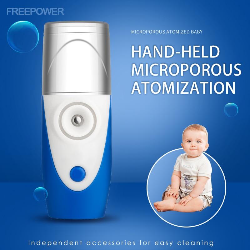 Mini Portable Ultrasonic Nebulizer Handheld Inhaler Respirator Humidifier Kit Health Care Children Home Inhaler Machine Atomizer
