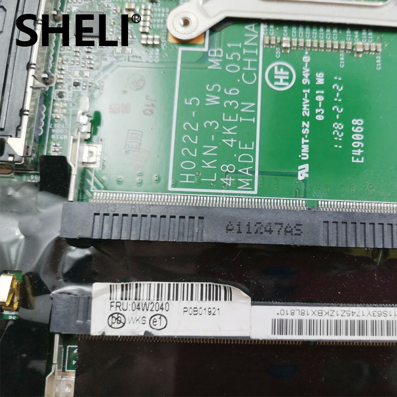 SHELI 04W2040 Für Lenovo W520 Laptop motherboard H0222-5 48.4KE36.051 DDR3 vollständig getestet arbeit perfec