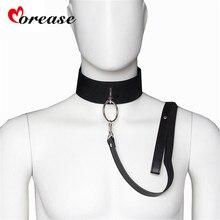 Sex Slave Bondage Collar and leash Neck Dog Collar Leather Harness Fetsih Erotic BDSM Sex Adult Games Toys For Couples Woman Men