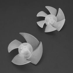 Kleine Power Mini Kunststoff Fan Klinge 4/6 Blätter Für Haartrockner Motor