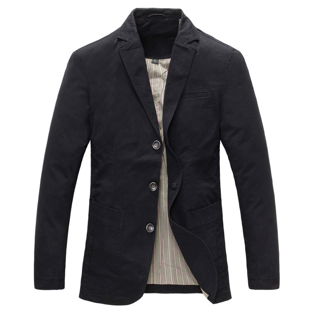 2018 spring  Men 100% cotton casual blazer men's brand military jacket blazers mens suit coat male blazer masculino jackets 1