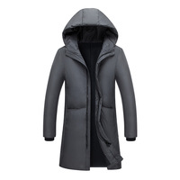 2018 new Winter Men's long coat cotton youth Thick Warm Hooded jacket Men's Park Winter clothes Size M L XL XXL XXXL