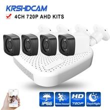 HD 720P outdoor AHD CCTV Camera system 720P/1080N AHD DVR 1.0mp 2000TVL Plastic bullet camera home surveillance set night Vision